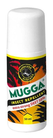 MUGGA Roll-On komary kleszcze STRONG 50% Deet 50ml